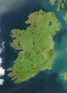 Ireland satellite image